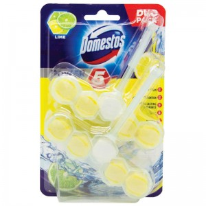 Kostka toaletowa Domestos Power 5 Lime 2x55g